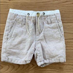 Boys linen shorts size 3